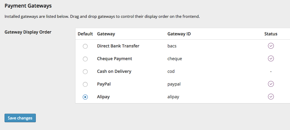 Alipay Gateway for WooCommerce