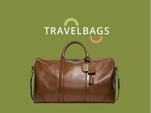 e commerce site design for a travel bags website
