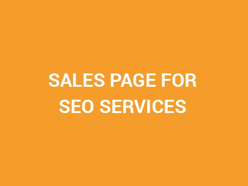SALES PAGE FOR SEO SERVICES