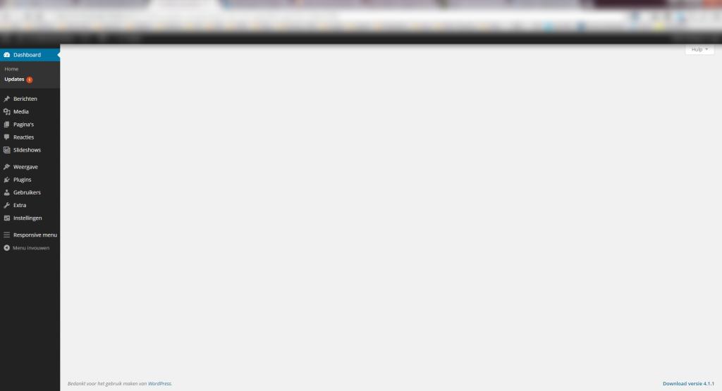 wordpress website showing blank page