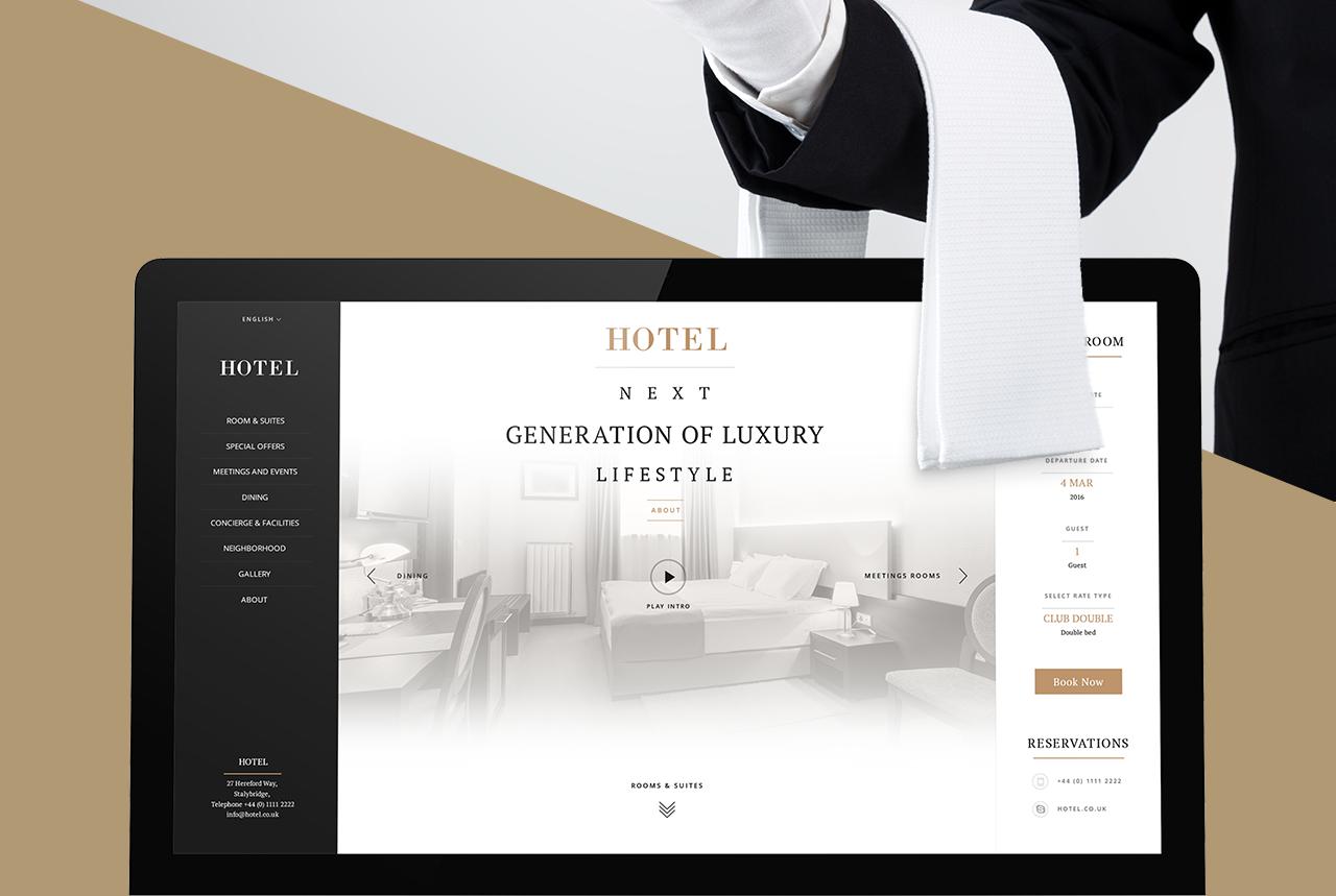 Responsive hotel website concept development mobilunity for Design hotel website