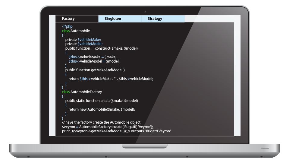 PHP Application Design of Startup Website Development
