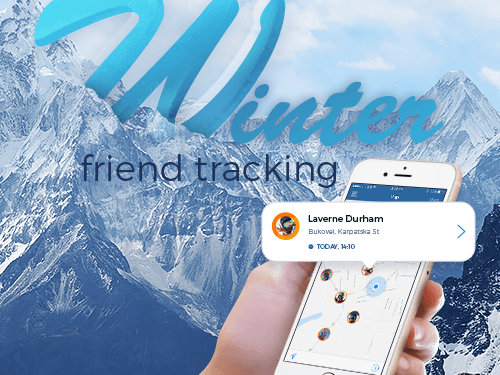 Winter Friend Tracking Skiing App Development