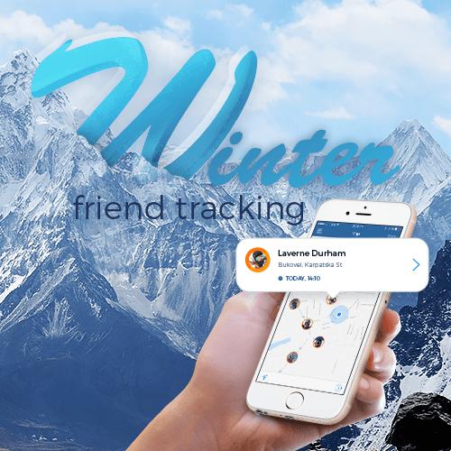Winter Friend Tracking Skiing App Development