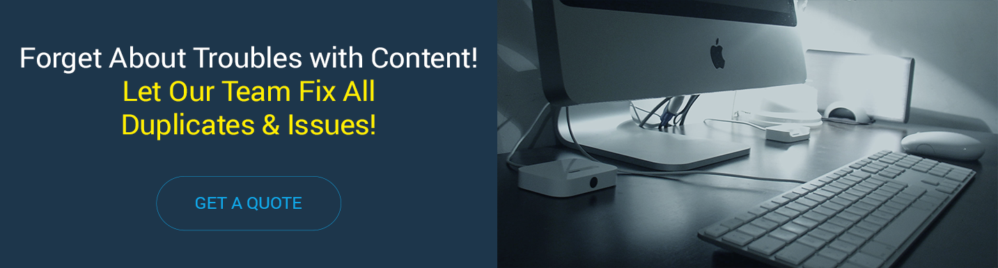 Get a Quote for Fixing Content Duplicates