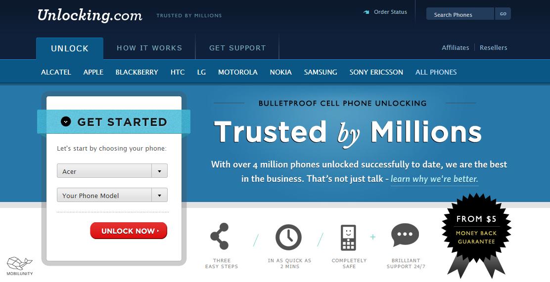 unlock API phone website