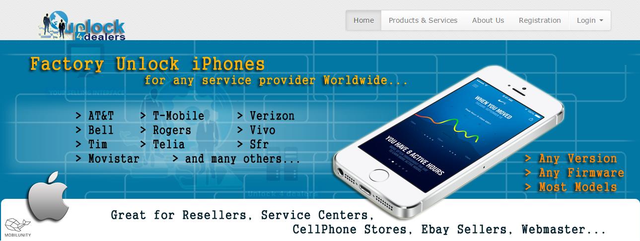 unlock phones websites development