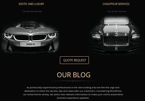 Luxurious Car Rental Website Design Mobilunity