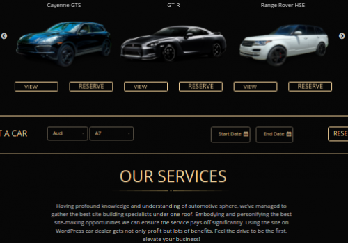 Luxurious Car Rental Website Design | Mobilunity