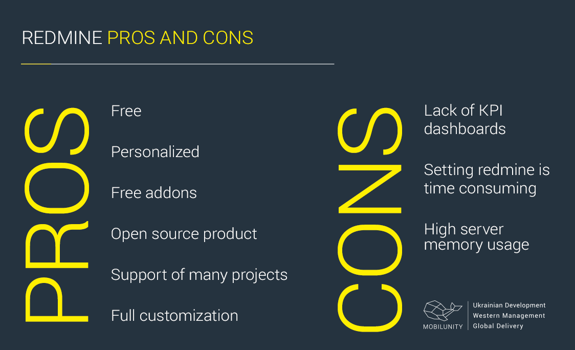 redmine pros cons