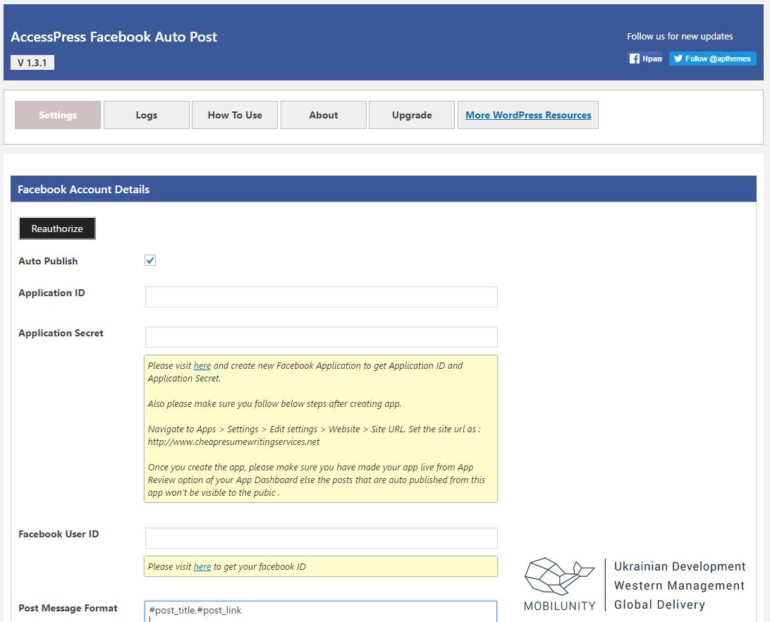 accesspress plugin automatic social media posting