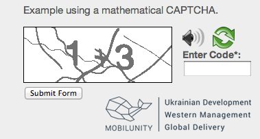 math captcha form