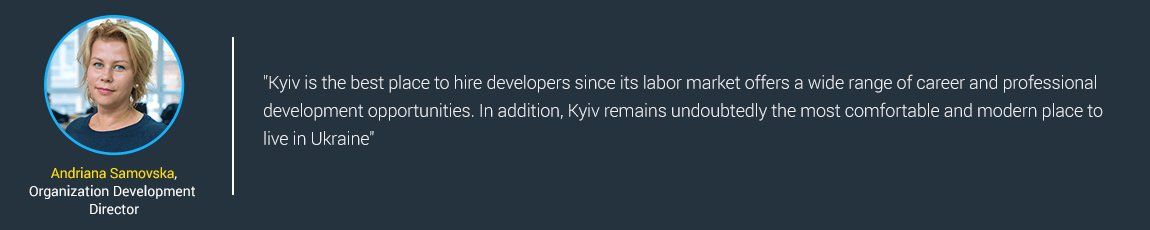 Kyiv is the best place to hire developers
