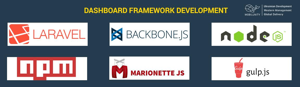 Laravel development of dashboard framework