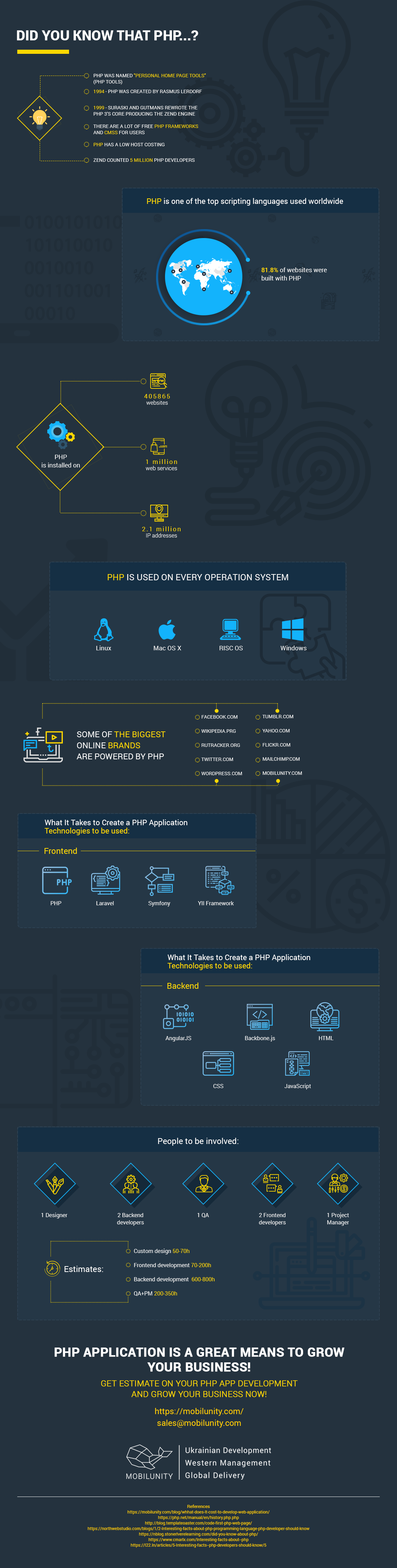 reasons to hire php developers infographics