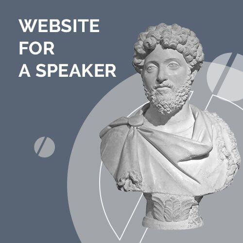 design of the website for a speaker