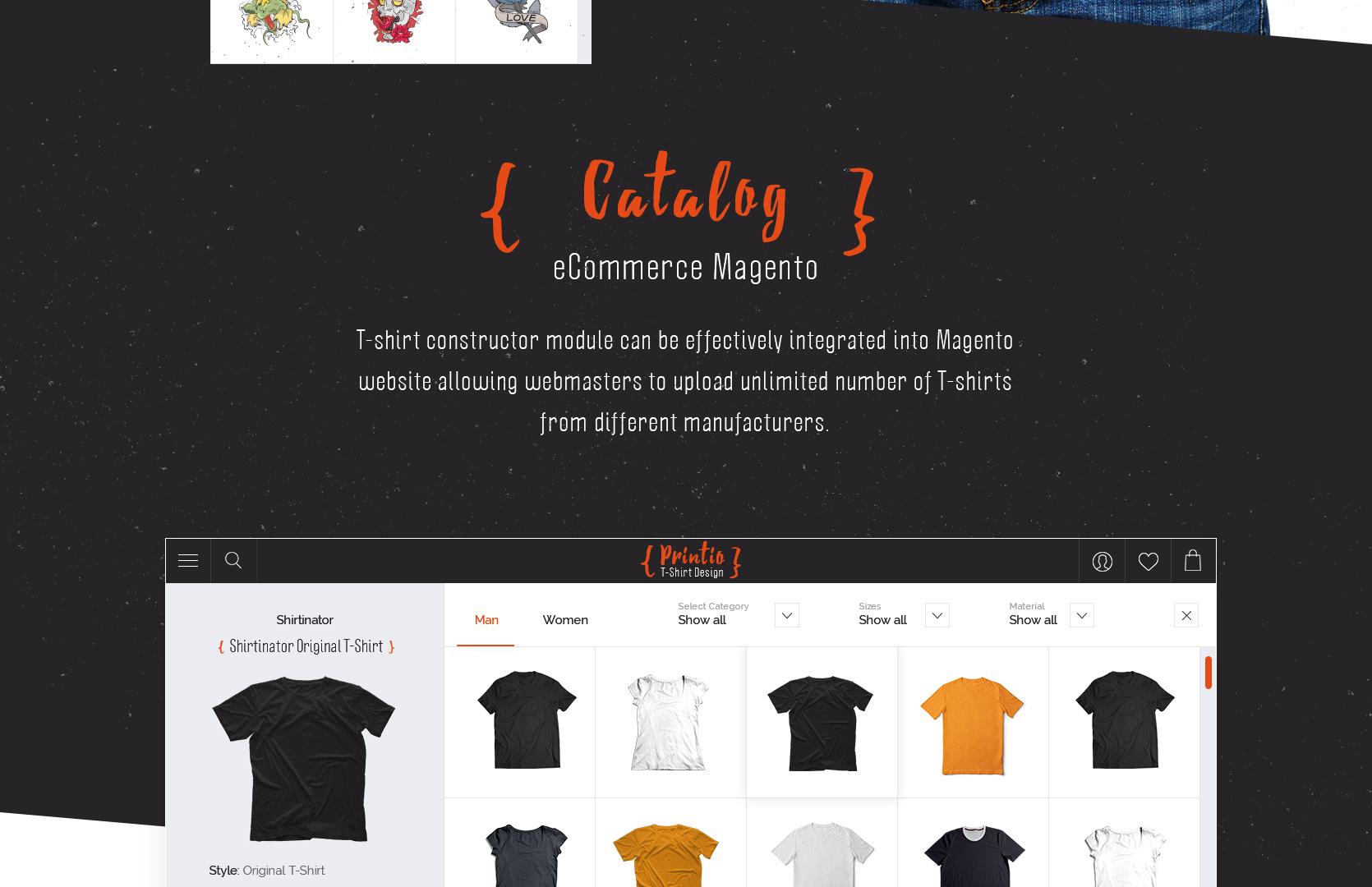 Great t shirt designer website template mobilunity for T shirt design software for website
