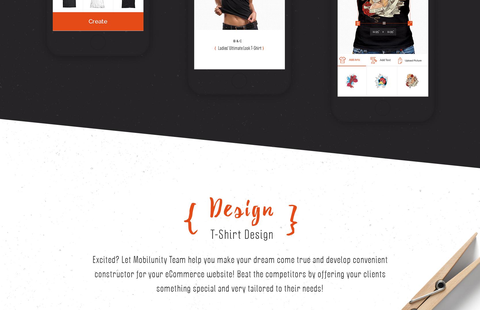 Great t shirt designer website template mobilunity for T shirt design maker website