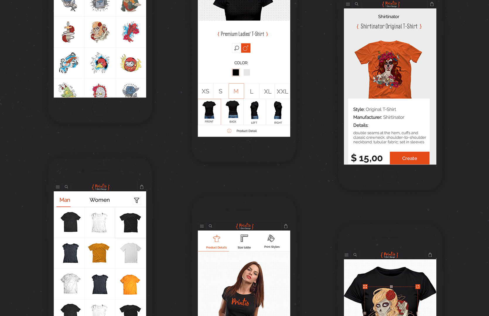 Great T Shirt Designer Website Template Mobilunity