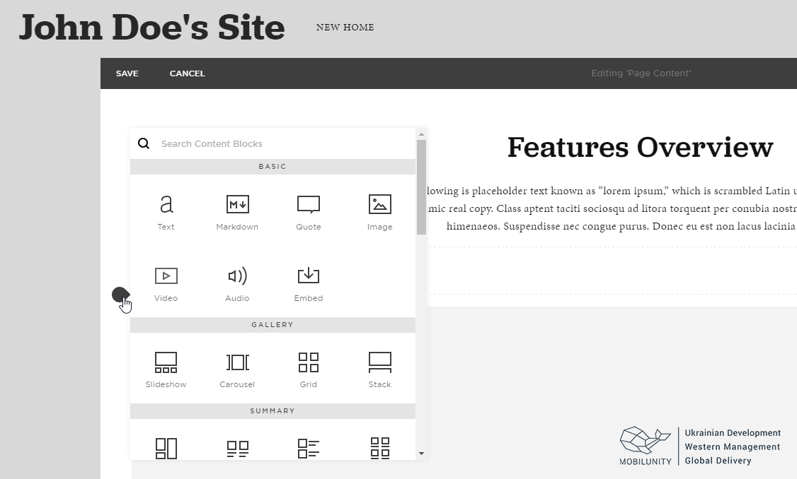 Build a free website with SquareSpace
