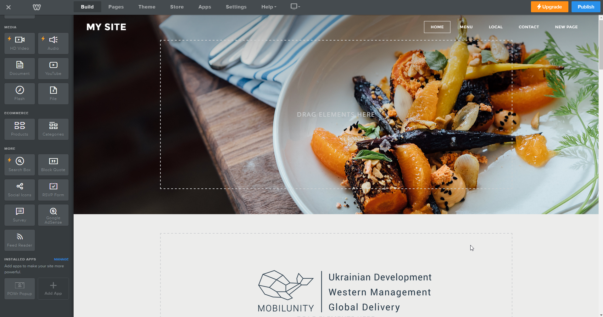 Create great eCommerce store design with Weebly