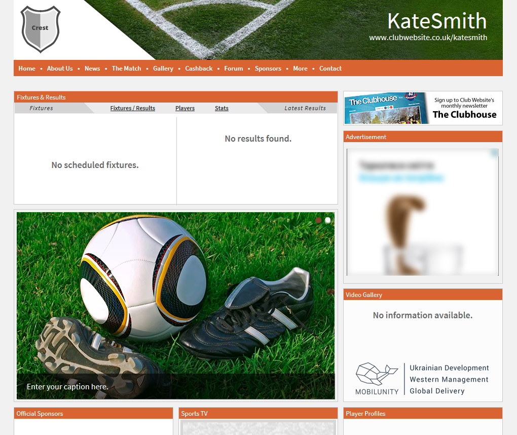 Outsource website creation to Mobilunity if Club Website solution is not enough for you