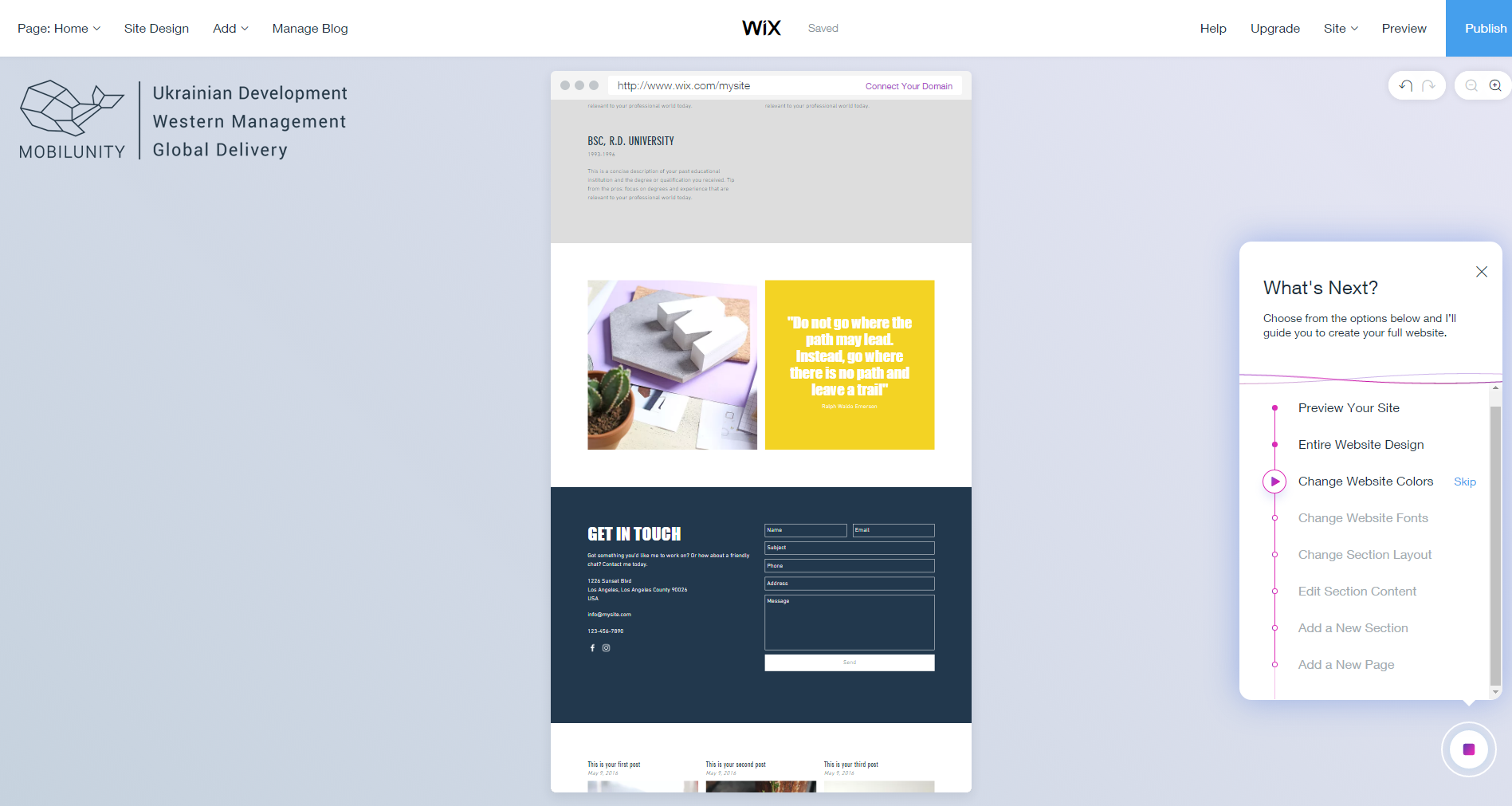 Overview of the Wix website builder