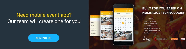 Hire mobile app programmers for event mobile app development
