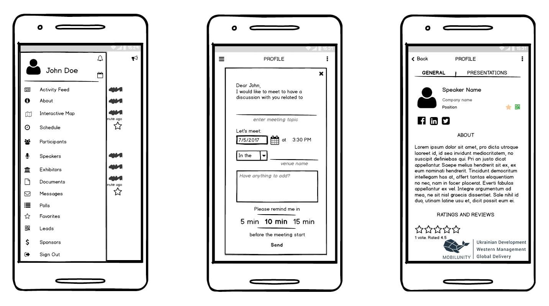 build a mobile app for proper event management