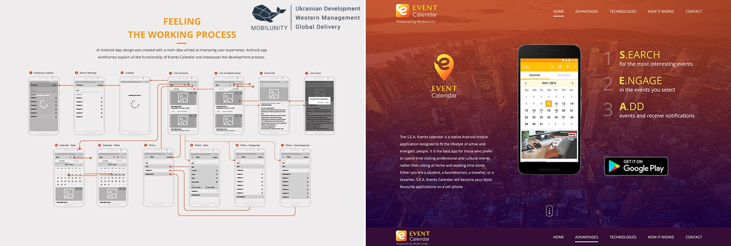 event mobile app development