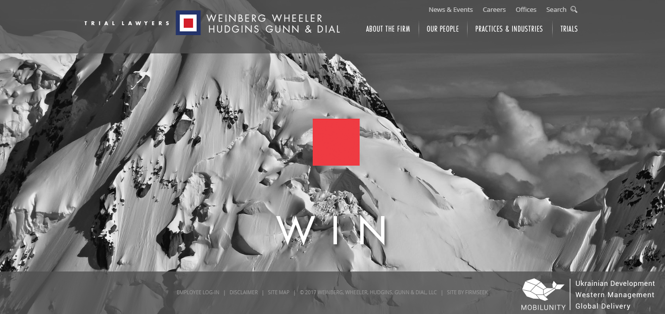 Build law firm website like Weinberg Wheeler Hudgins Gunn & Dial did