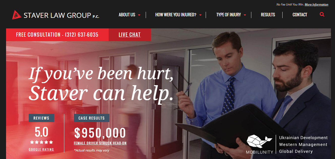 Custom website development for law firms and Staver Law Group