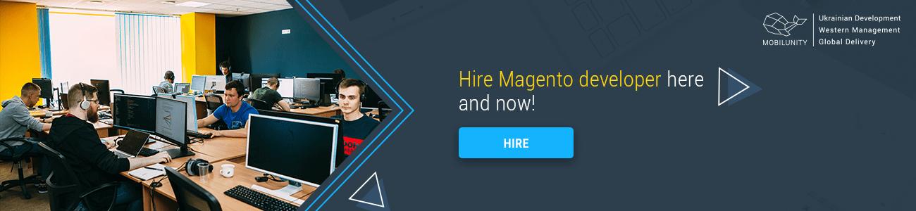 hire magento developer at Mobilunity