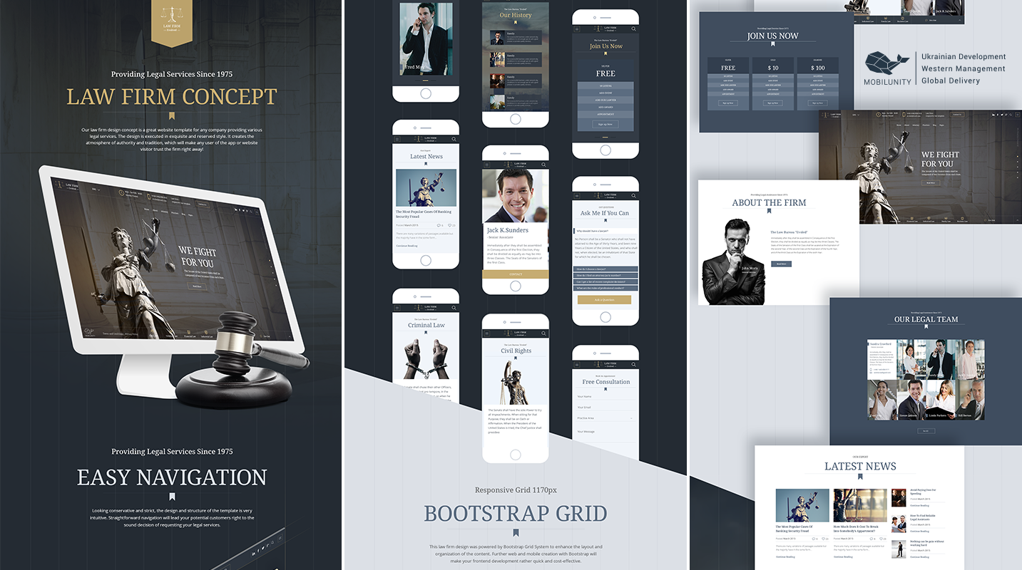 website development and design for law firms