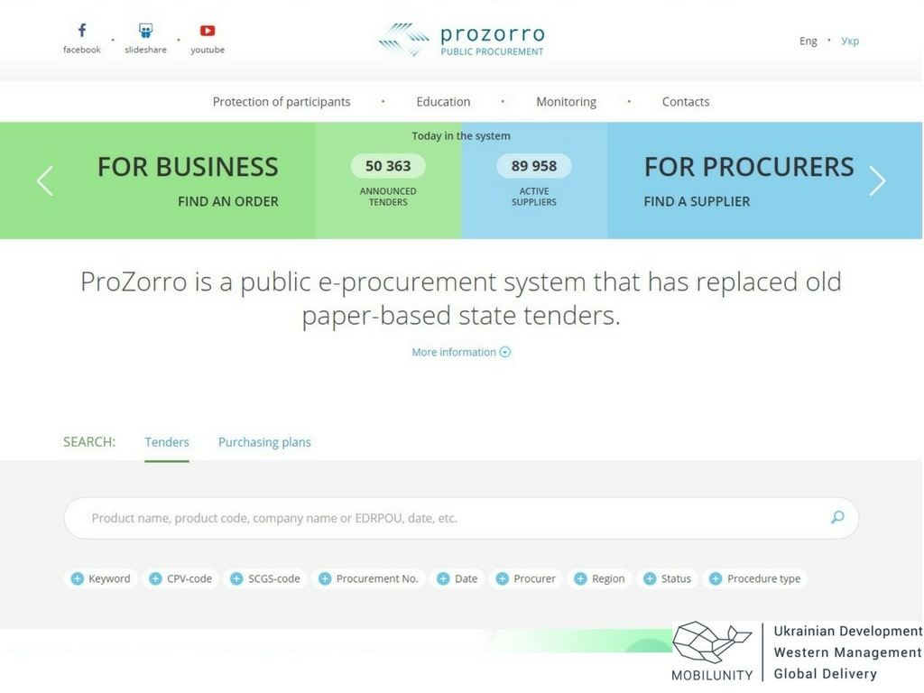 Government E Marketplace Development Like Prozorro