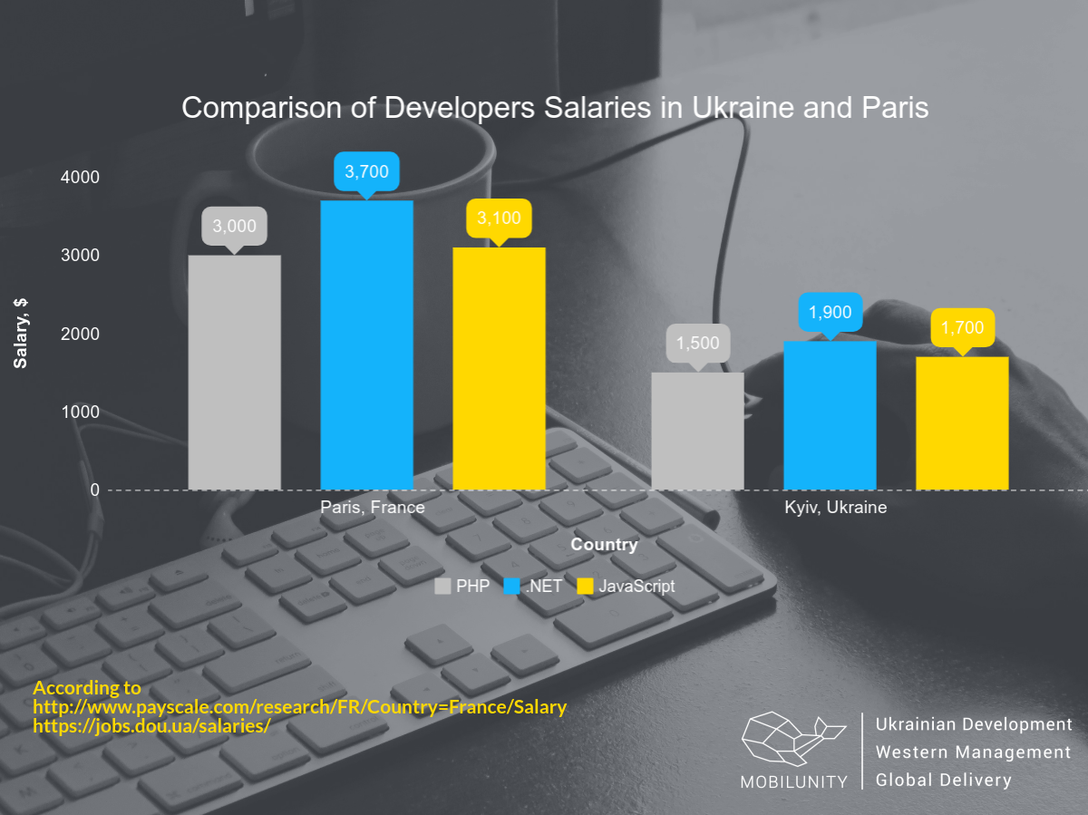 How much does a dedicated development team in France cost?