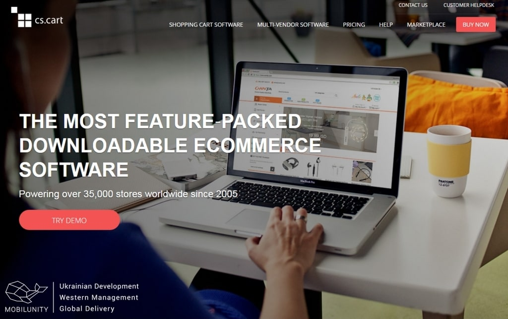 eCommerce software of marketplace website builder cs cart