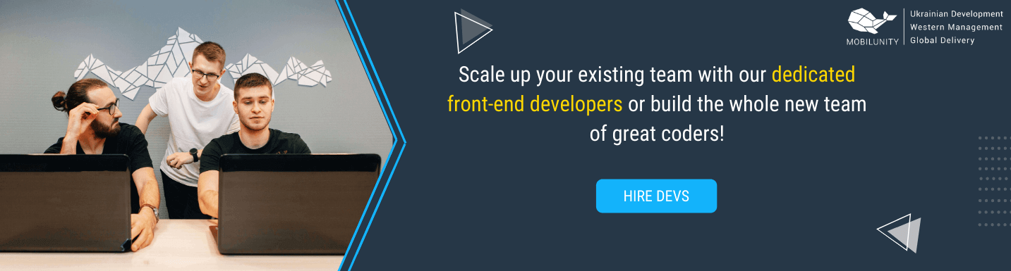 hire front end developer in mobilunity
