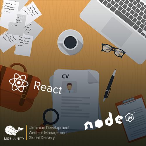 react js with node js