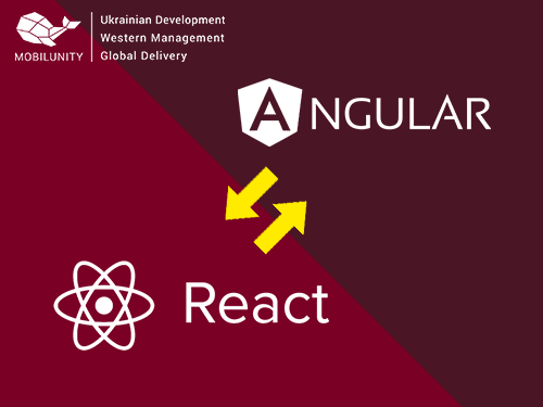 using react with angularjs what is better