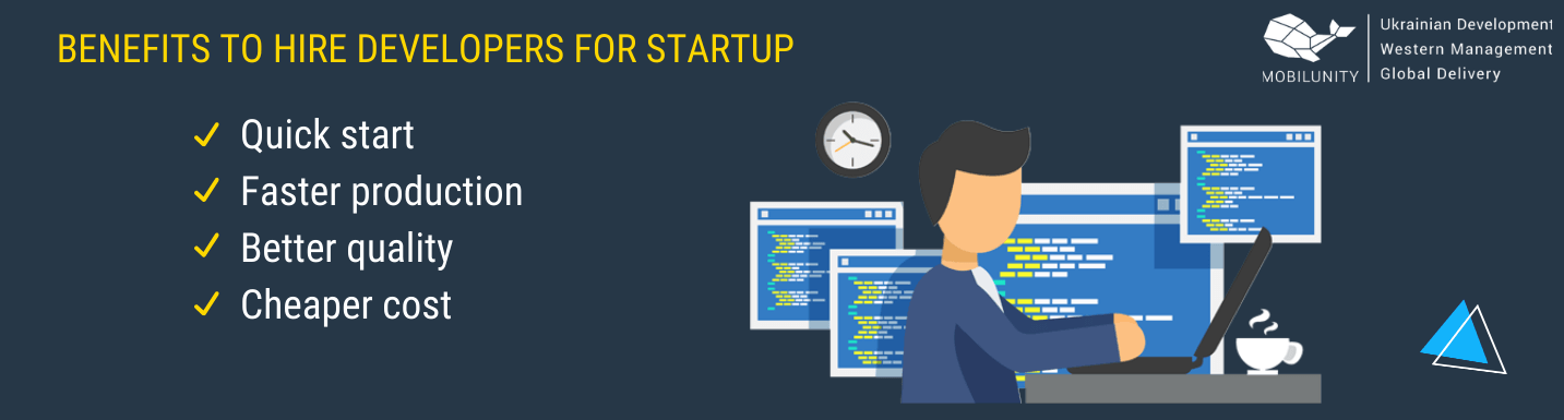 benefits of hiring developers for startup