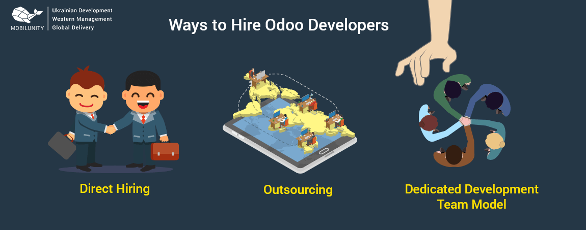 ways to hire and find odoo developer in Ukraine