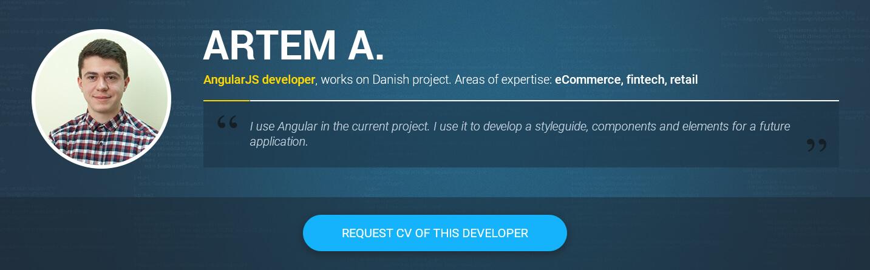Angular 2 and 4 developer Artem