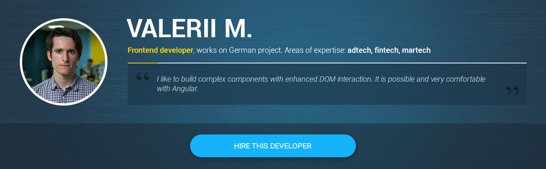 Frontend Angularjs developer for hire Valerii M.