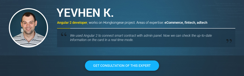 hire Angular 2 developer in 2018 Yevhen