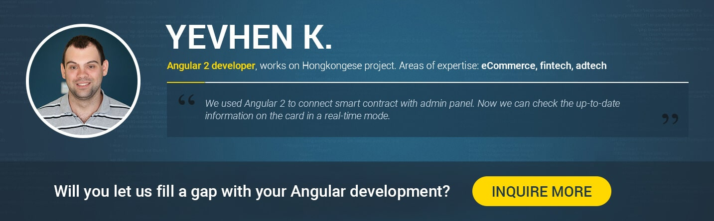 hire Angular 5 developer in 2018 Yevhen