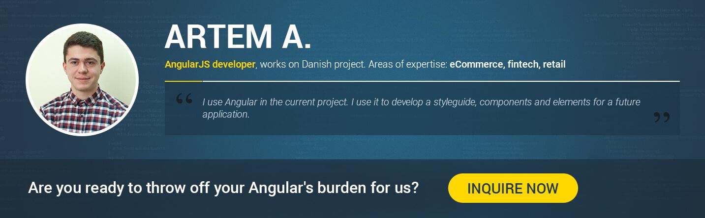 hire angular 5 developer in 2018 Artem A.
