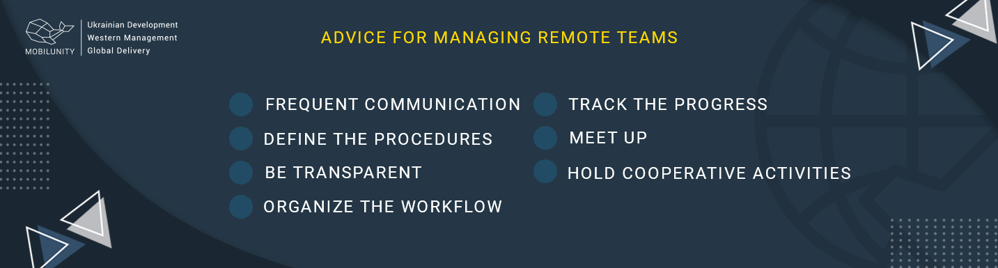 advice for managing remote team