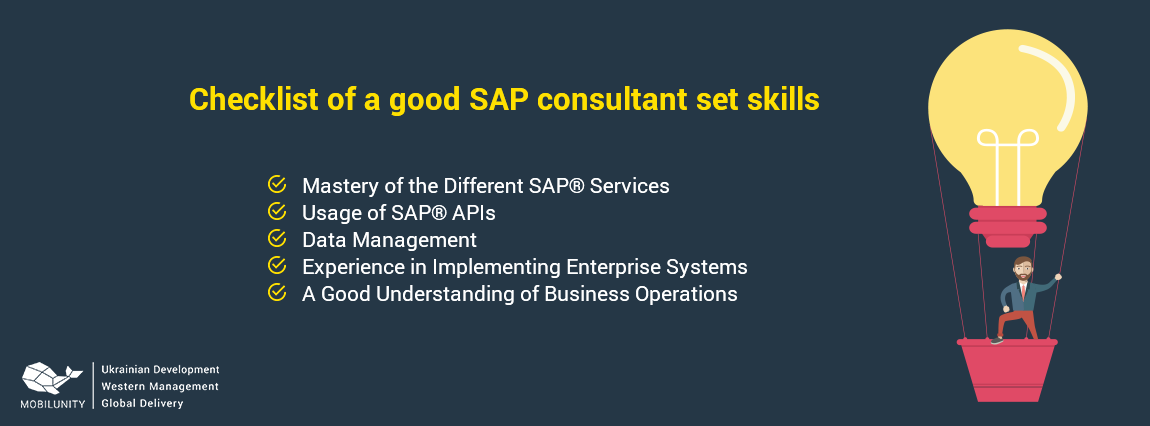 checklist of a good SAP consultant set skills