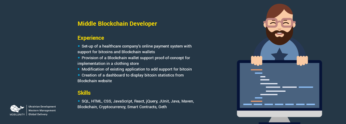 Middle Blockchain Developer Resume Sample